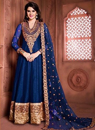 EthnicWear-Silk-Hot-Designer-Best-Seller-Wedding-Sangeet-Wear-Blue-Anarkali-Suit