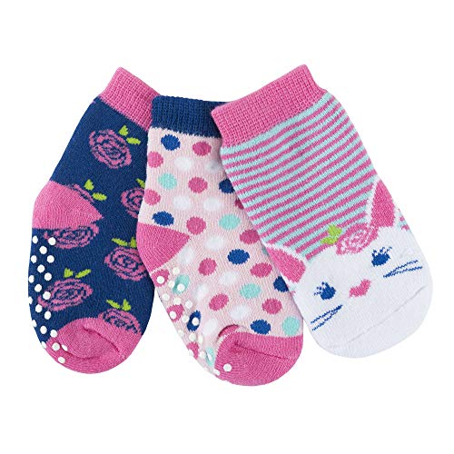 - ZOOCCHINI Baby Comfort 3-Pack Terry Socks Set - Beatrice the Bunny, 3 Unique Pairs Per Set, Boys and Girls Ages 0-24 Months