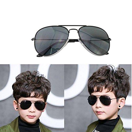 Fashion Colorful Kids Sunglasses Eyeglasses Goggles Boy Girls Eyewear 2-9 Years Old (Black frame black - Sunglasses Roblox