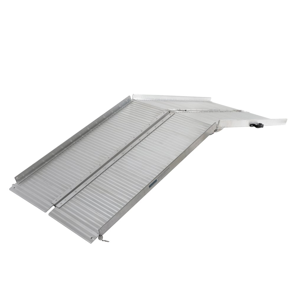 7ft Multi-Fold Portable Wheelchair & Mobility Scooter Ramp Aluminum