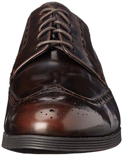 Clarks Mens Gabwell Gräns Oxford Kastanj Läder