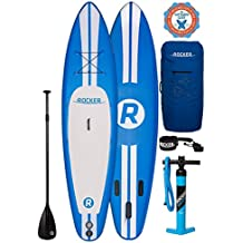 """iRocker Inflatable SPORT Stand Up Paddle Board 11' Long 30"""" Wide 6"""" Thick SUP Package"""