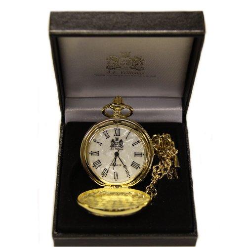 Vergoldete Quarz-Uhrwerk Taschenuhr