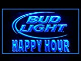 Bud Light Beer Happy Hour Drink Led Light Sign