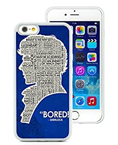 Personalized Sherlock Holmes White TPU Phone Case for iPhone 6 4.7 Inch