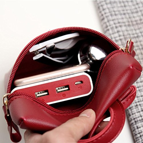 Inkach Chic Messenger Coin Cross Mini by Mini Womens Small Purses Handbags Bags Shoulder Girls Body Bag Square Wine xffFnqwH