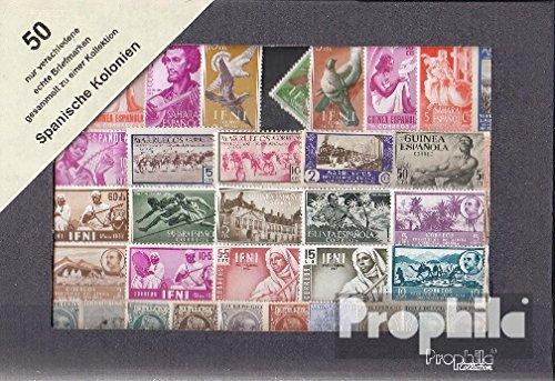 Prophila España 50 diferentes sellos españolas Colonias sin sucesor (sellos para los coleccionistas): Amazon.es: Juguetes y juegos