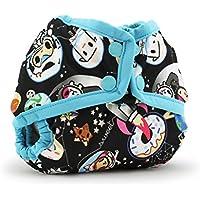 Kanga Care Rumparooz Newborn Cloth Diaper Cover Snap, Tokispace with Aquarius Trim