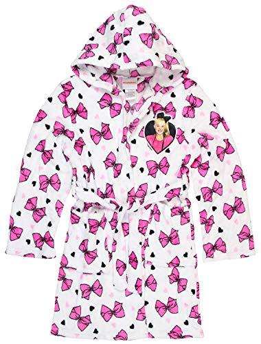 JoJo Siwa Kids Robe for Girls Hooded Soft Plush Fleece Bath Robe (8) - Parker Kids Bows