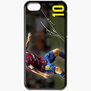 Personalized iPhone 5C Cell phone Case/Cover Skin Exclusive imaginative lionel messi Black