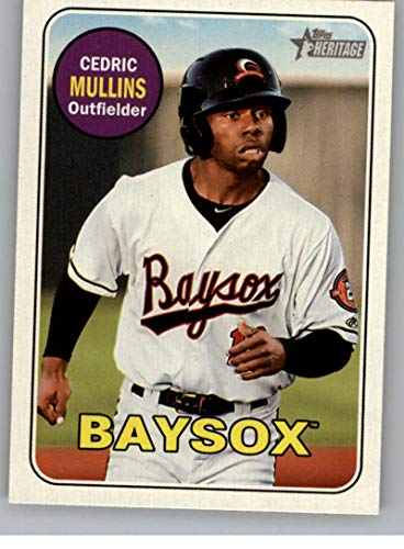 2018 Topps Heritage Minor League Baseball #35 Cedric Mullins Bowie Baysox Official MILB Trading Card