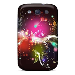 Tpu Case Cover For Galaxy S3 Strong Protect Case - Colored Abstract Design by icecream design