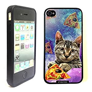 Shawnex Springink Hipster Galaxy Cat Holding Pizza Slice Thinshell Case Protective ip4 Case