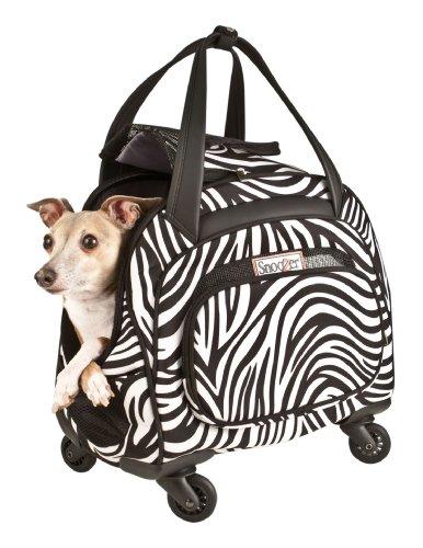 Snoozer Cooper 4-Wheeled Pet Bag, Zebra 51Rp3EBC2sL