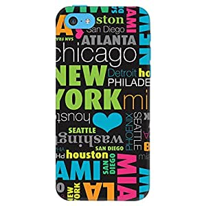 DailyObjects New York Case For iPhone 5C (Black) (Back Cover)