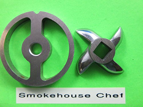 #5 Sausage Stuffer plate and knife for Chefs Choice meat grinder & food chopper that fits Kitchenaid mixer (Used Meat Mixer)
