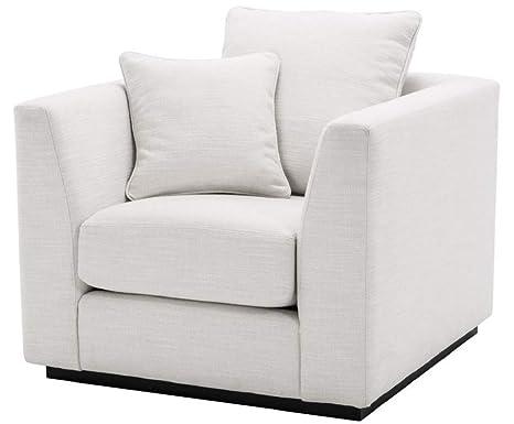 Casa-Padrino sillón de salón de Lujo Blanco/Negro 98 x 100 x ...