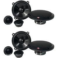 4) New Rockford Fosgate R152-S 5.25 160 Watt 2 Way Car Component Speakers Audio