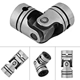 """12mm/0.47"""" Dia Shaft Coupling Motor Connector Steel Universal Joint 12×23×52mm+ 2Pcs Rod +2 Pcs Ring"""