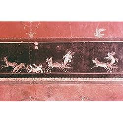 Hunting Amorini 63-79 AD Roman Art Fresco Casa dei Vettii Pompeii Italy Poster Print (24 x 36)