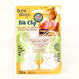 Baby Buddy Bib Clip White (Pack Of 18)
