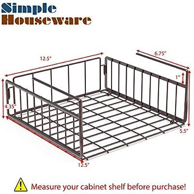 Simple Houseware Under Shelf Basket