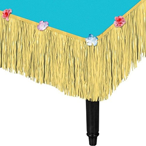 AmscanNatural Grass Party Table Skirt, 9' x 15