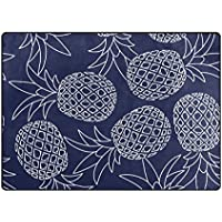 Cooper girl Tropical Pineapple Area Rug Mat Carpet 53x4 for Living Room Bedroom Dining Room