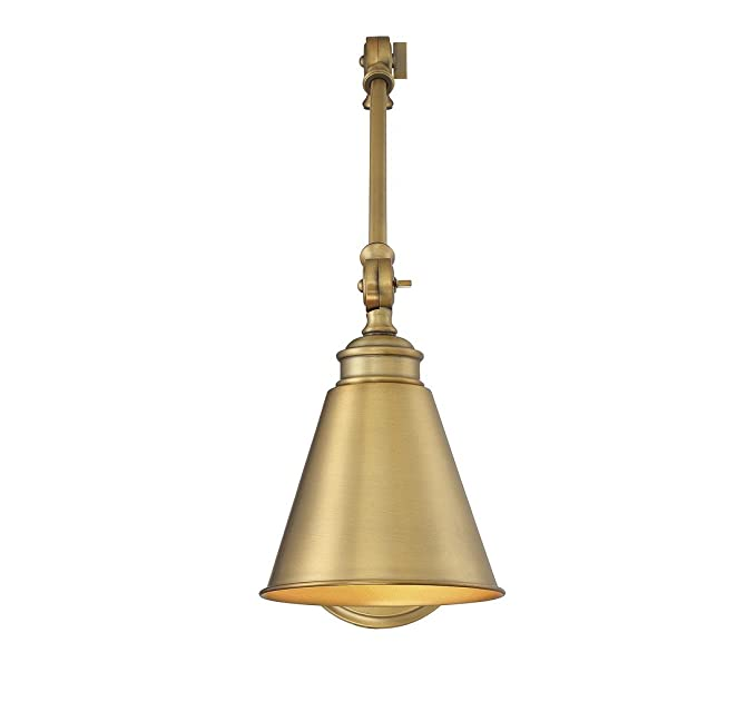 outlet store f0d05 1b72f Savoy House 9-961CP-1-322 Morland 1-Light Adjustable Sconce w/Plug in Warm  Brass