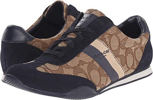 Coach Women's Kelson Outline Khaki/Midnight Navy Sig/Suede 8.5 M US