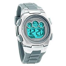 Sportech | Grey & Metal Digital Water Resistant Swim Sports Watch | HA0338