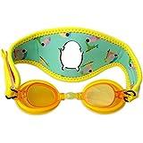 Cheekaaboo Booggles Kids Adjustable Swim Goggles,Anti Fog,UV Protection-Toucan