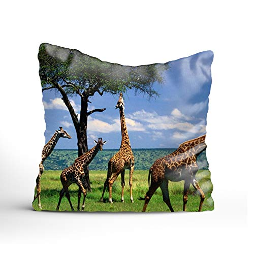- FunnyLife Custom Distinctive Design Giraffe Twin printed Zippered Pillow case Pillow Covers