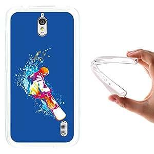 WoowCase - Funda Gel Flexible { Huawei Y625 } Snowboard Cielo Azul Deporte Carcasa Case Silicona TPU Suave
