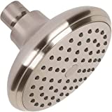 High Flow Water Saving Showerhead - 4 Inch Great Water Pressure In Wall Mount Shower Head - Indoor And Outdoor Modern Bath Spa Fixture For Showers - Brushed Nickel