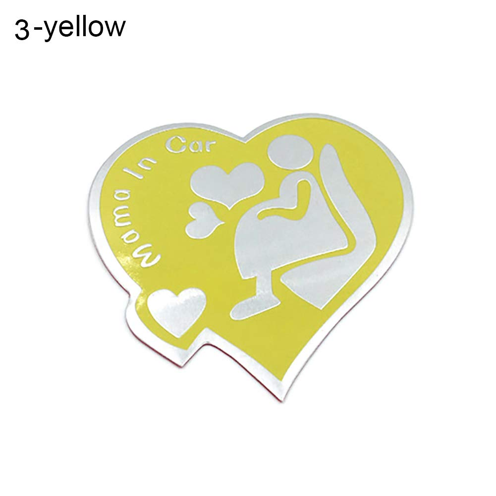 Yellow 3 HsgbvictS External Decoration Car Sticker Fashion Letters Car Sticker Window Decal Warning Decor Safety Sign Decoration