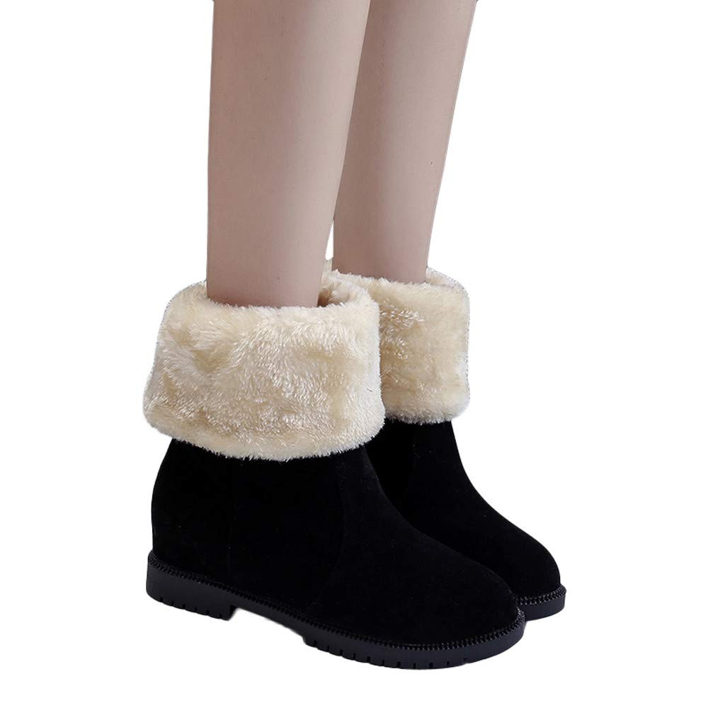 Hemlock Women Snow Boots Slip-On Calf Boots Flat Keep Warm Suede Booties Shoes Outdoor Work Martin Boots