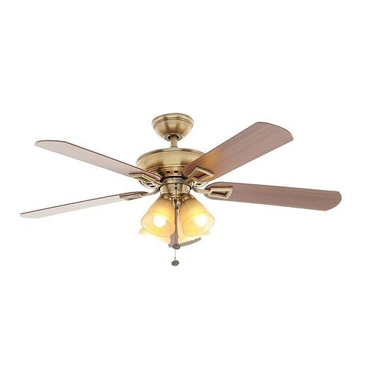 Hampton Bay Lyndhurst 52 in. Antique Br Indoor Ceiling Fan on