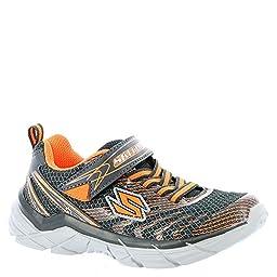Skechers Boys Rive Sneaker,Gunmetal/Orange,US 3 M