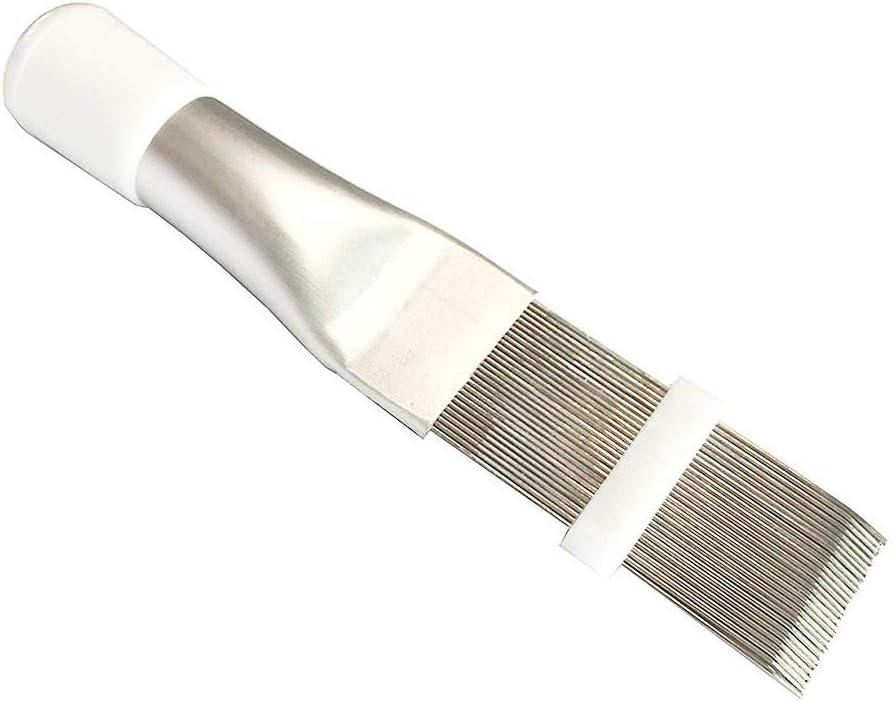 Herramienta de reparaci/ón de aletas de aire acondicionado eficiente 14,5 x 2,5 cm peine de bobina de aire acondicionado radiador de condensador universal