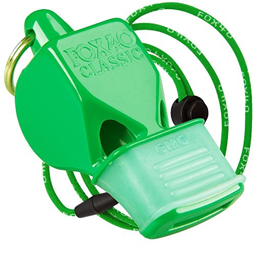 Fox 40 Cmg Whistle - Fox 40 Classic CMG Whistle w/ Lanyard - Referee Coach Safety Alert Rescue, Green