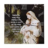 Jesus and Virgin Mary Catholic Wall Clock - Happy and Peace be with you in the House - Baby Jesus Church Religious Picture Frames (Mary holding the baby Jesus in)