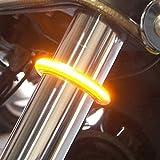 #6: Motorcycle Fork Light Strips IMISO 2 x 15 LED Turn Signals/Running / Brake/License Plate Lights - IP65 Waterproof Universal Lights Strip Kit for Harley Motorbike