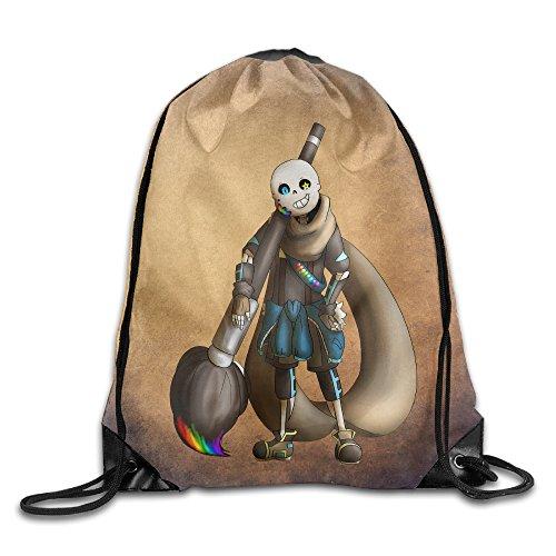 Drawstring Backpack Bag Ink Sans Video Game
