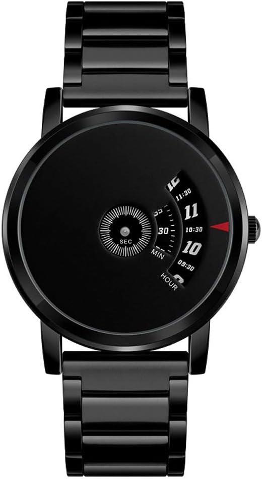 Yikuo El Reloj De Los Hombres De Negocios De La Personalidad/El Reloj De Cuarzo Masculino De La Tendencia del Indicador No/El Diseño Impermeable De Los 30M / El Buen Material Delicado (Color : Black)