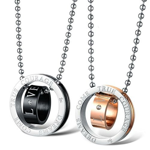 Fashion silver titanium stainless steel dreams come true for L love jewelry reviews