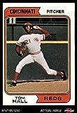 1974 Topps # 248 Tom Hall Cincinnati Reds (Baseball Card) Dean's Cards 4 - VG/EX Reds