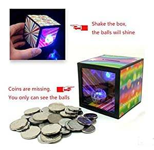 Soondar® Halloween Magic Piggy Bank Strange Magic Money Box - Runs Out of Coins Put Magic Trick Joke Toy Jokes - Best Gifts for Children