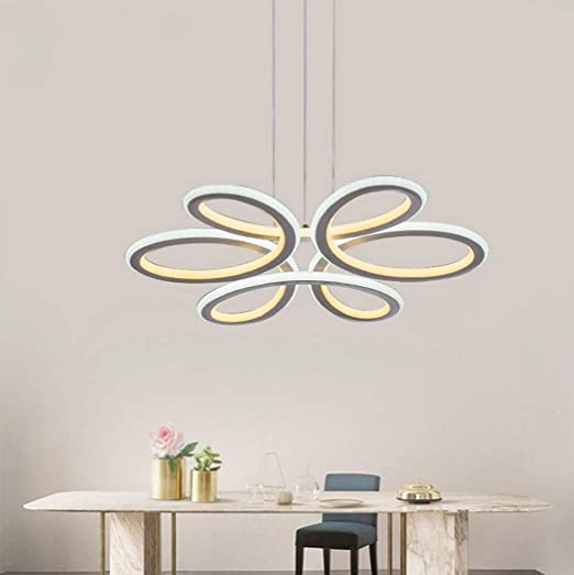 Moderna lámpara de araña, Personalidad LED Pétalos Colgante ...