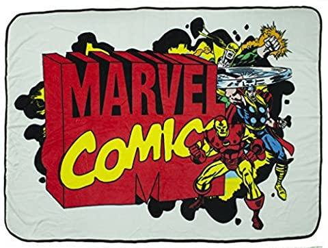 45 x 60 Inch Marvel Comics Super Soft Fleece Blanket (Wolverine Xmen Bedding)
